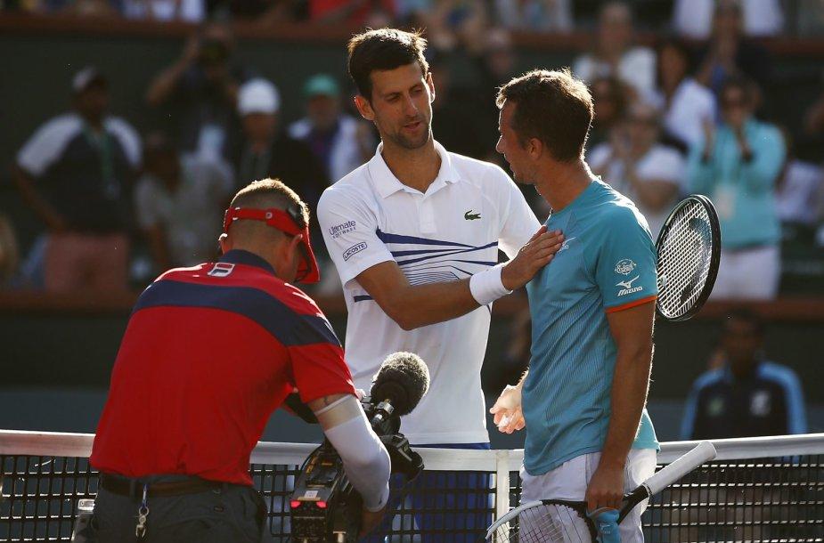 Novakas Džokovičius ir Philippas Kohlschreiberis
