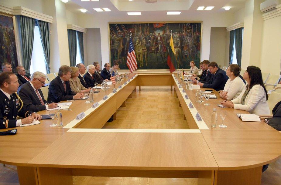 Raimundas Karoblis susitiko su JAV kongresmenais