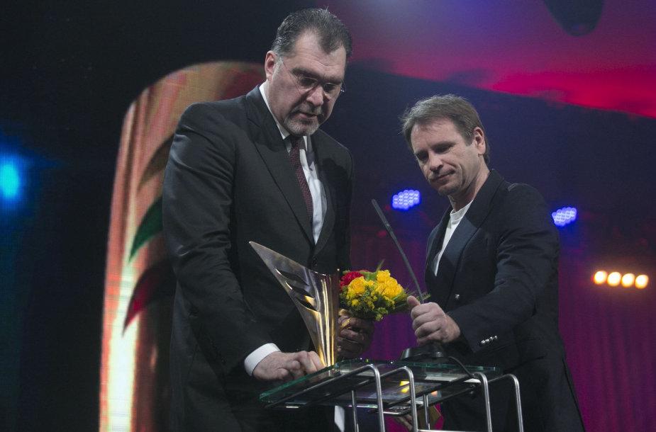 Arvydas Sabonis ir Marijonas Mikutavičius