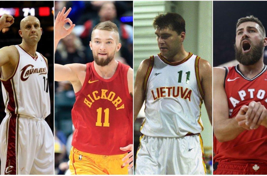 Žydrūnas Ilgauskas, Domantas Sabonis, Arvydas Sabonis ir Jonas Valančiūnas – didžiausius kontraktus sudarę Lietuvos krepšininkai.