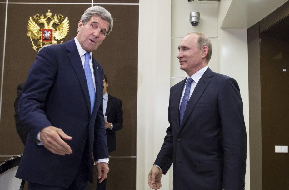 Johnas Kerry Sočyje susitiko su Vladimiru Putinu.