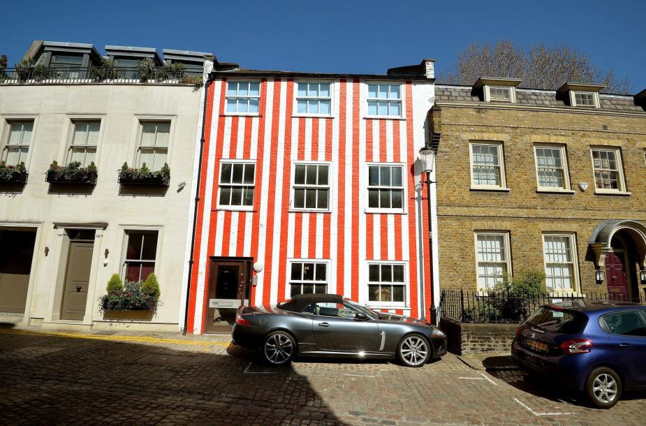 Dryžuotas namas Kensingtone