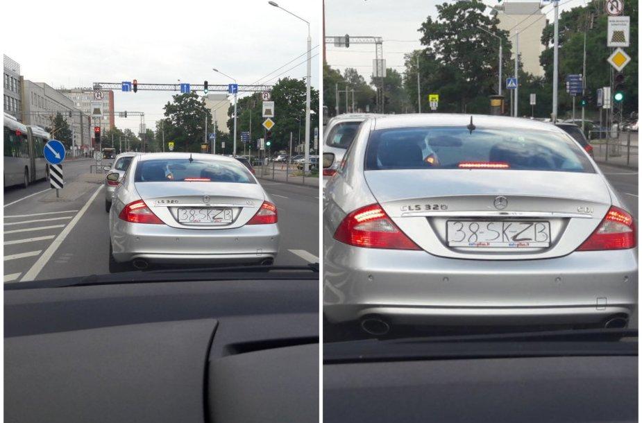 Skaitytojo užfiksuotas automobilio numeris