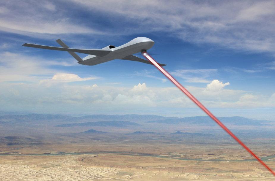 """Taip galėtų atrodyti lazeriu ginkluotas dronas """"Avenger"""""""
