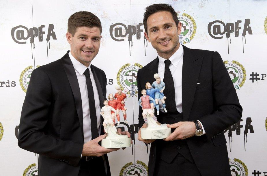 Stevenas Gerrardas ir Frankas Lampardas