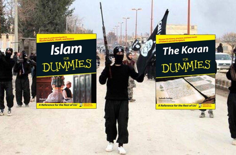 """""""Islamo valstybės"""" naujokams reikia knygų """"Islamas žaliems"""" ir """"Koranas žaliems"""""""