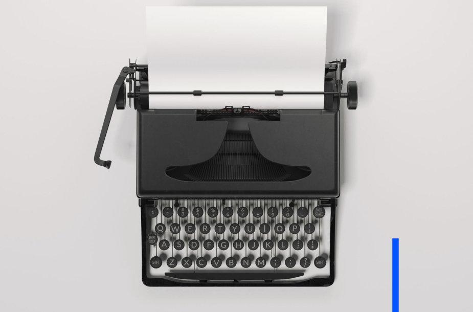 Vintažinė spausdinimo mašinėlė
