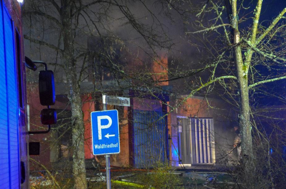 Vokietijoje kilo gaisras krematoriume