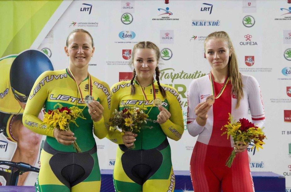 Simona Krupeckaitė, Miglė Marozaitė ir lenkė Aleksandra Tolomanow