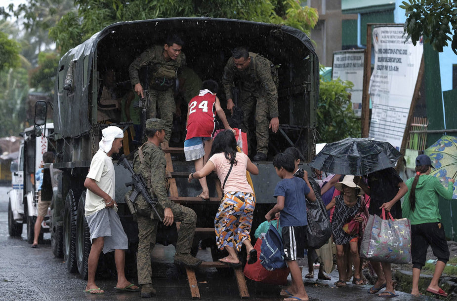 Evakuacija prieš taifūną Kammuri