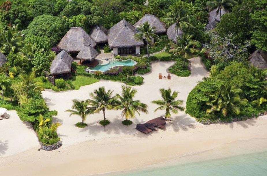 Sala Fidžyje, kur medaus mėnesį leidžia Miranda Kerr ir Evanas Spiegelis