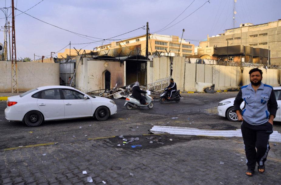 Padegtas Irano konsulatas Irako šventajame Nadžafo mieste