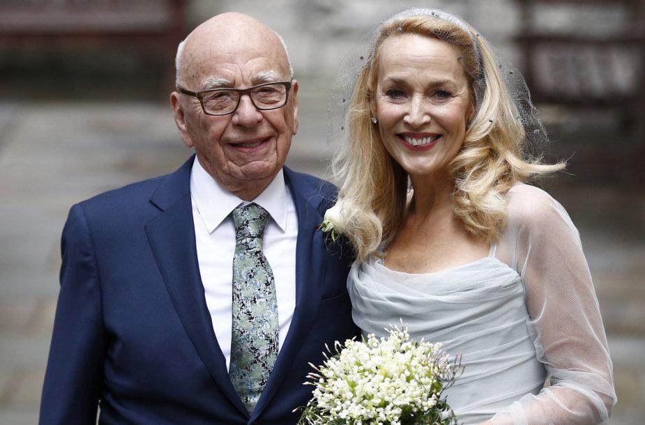 Rupertas Murdochas ir Jerry Hall