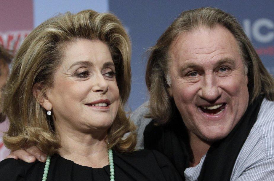 Catherine Deneuve ir Gerardas Depardieu