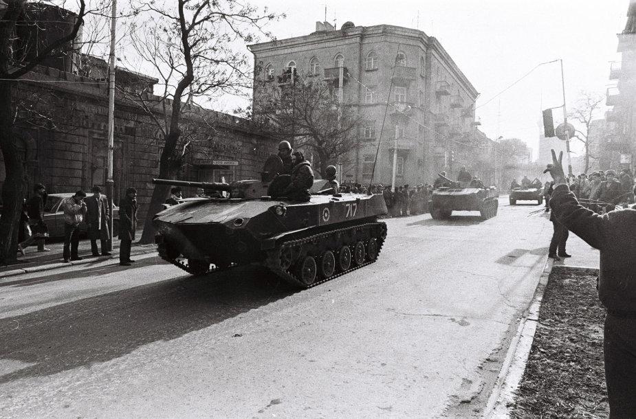 SSRS kariai Azerbaidžane 1990 m.