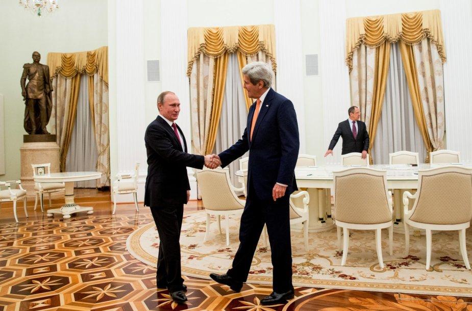 Rusijos prezidento Vladimiro Putino susitikimas su JAV valstybės sekretoriumi Johnu Kerry