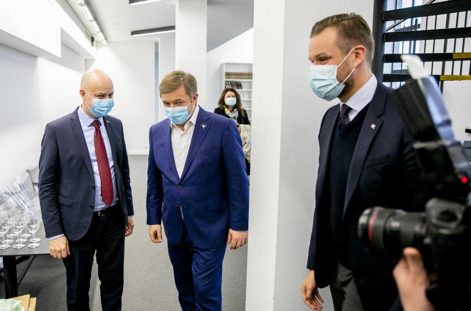 Ramūnas Karbauskis, Aurelijus Veryga, Gabrielius Landsbergis