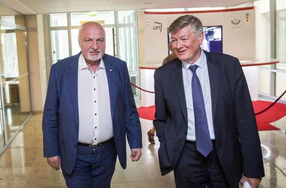 Valentinas Mazuronis ir Artūras Paulauskas