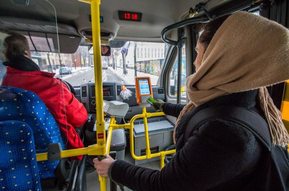 E.bilietas Kauno maršrutiniuose taksi