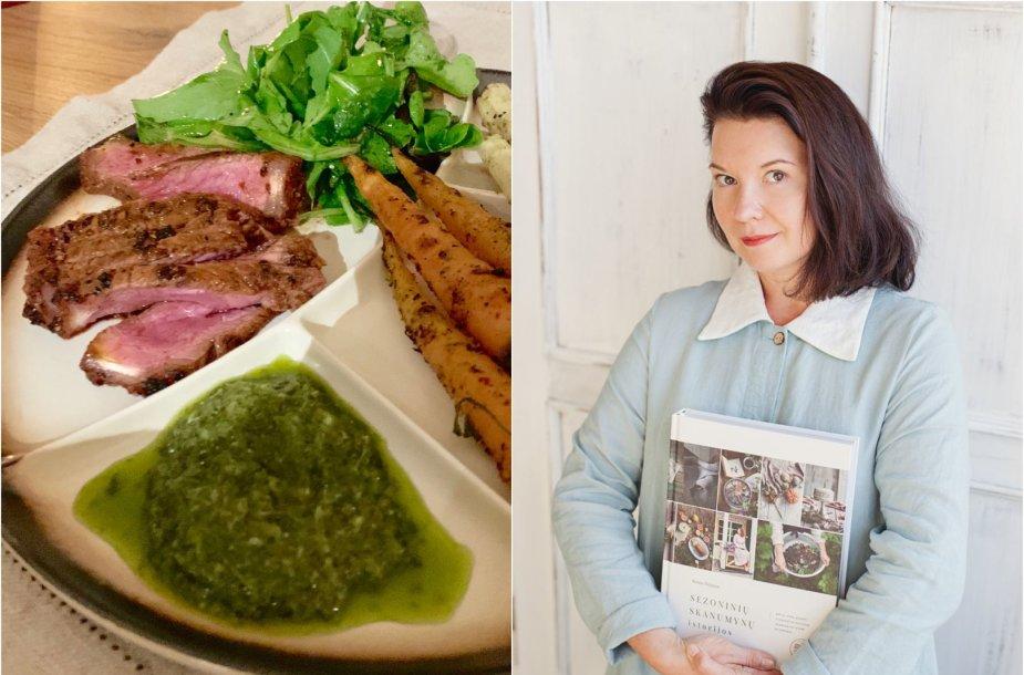 Renata Ničajienė ir jos ruoštas patiekalas