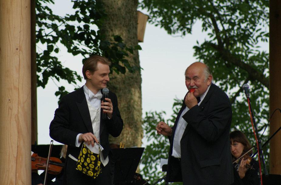Liudas su D. Katkumi Bistrampolio festivalyje
