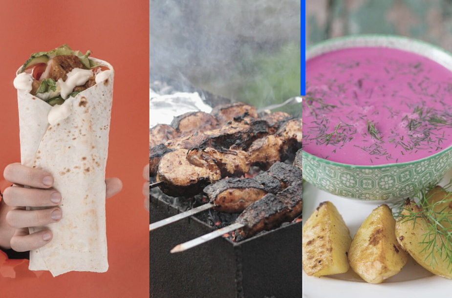 Kebabas, šašlykai ir šaltibarščiai