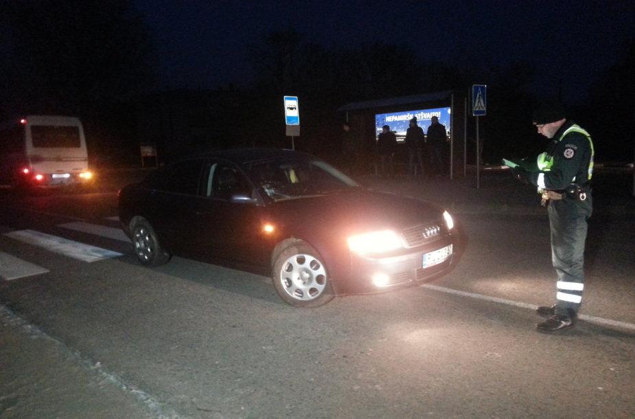 """Avarija Šilutės rajone: """"Audi"""" parbloškė gimnazistą"""