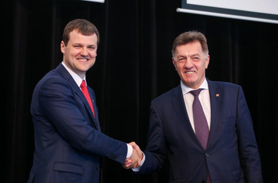 Gintautas Paluckas ir Algirdas Butkevičius