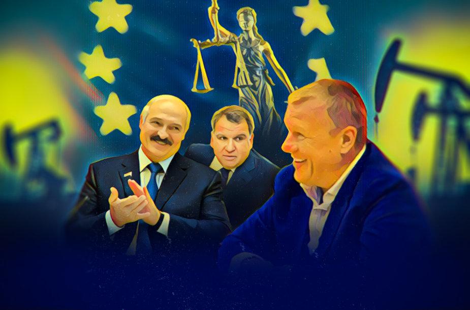 V.Tomaševskio ryšiai su A.Lukašenkos aplinka ir ES sankcijų sąraše buvusiomis įmonėmis