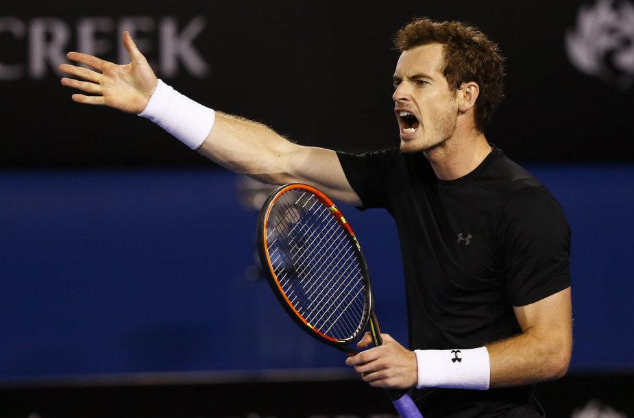 """Andy Murray siekia pirmo """"Australian Open"""" čempiono titulo"""