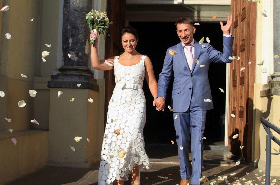 Žvaigždžių stilistė Rūta Morozovienė atnaujino santuokos įžadus