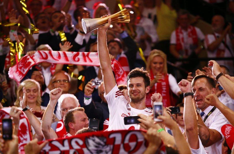Lenkijos tinklininkų triumpfas Pasaulio čempionate savo žiūrovų akivaizdoje