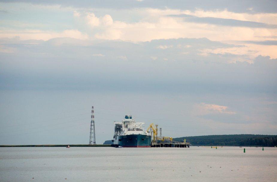 """Suskystintų gamtinių dujų laivas-saugykla """"Independence"""""""