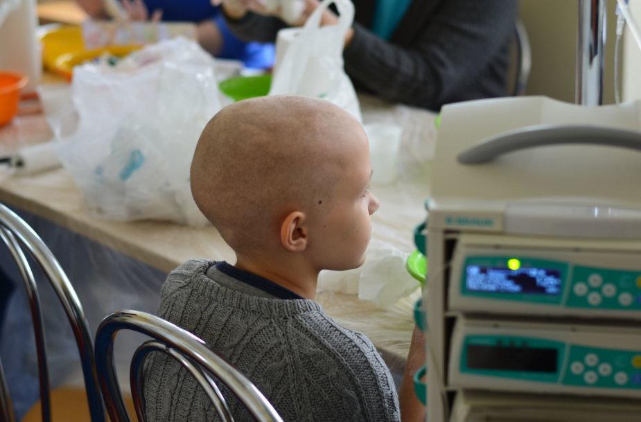 Vėžiu sergantis vaikas