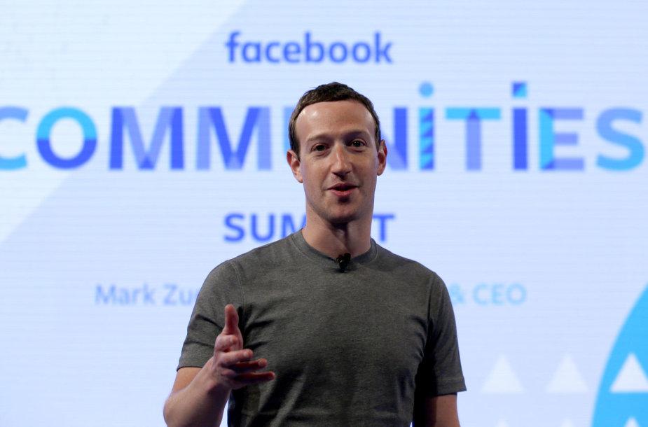"""Facebook"" vadovas Markas Zuckerbergas"