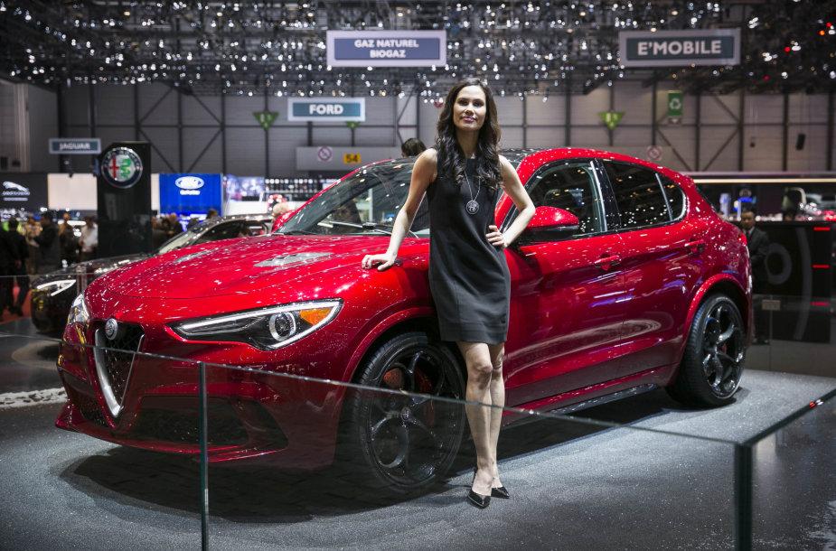 "Ženevoje – naujojo ""Alfa Romeo Stelvio"" premjera"