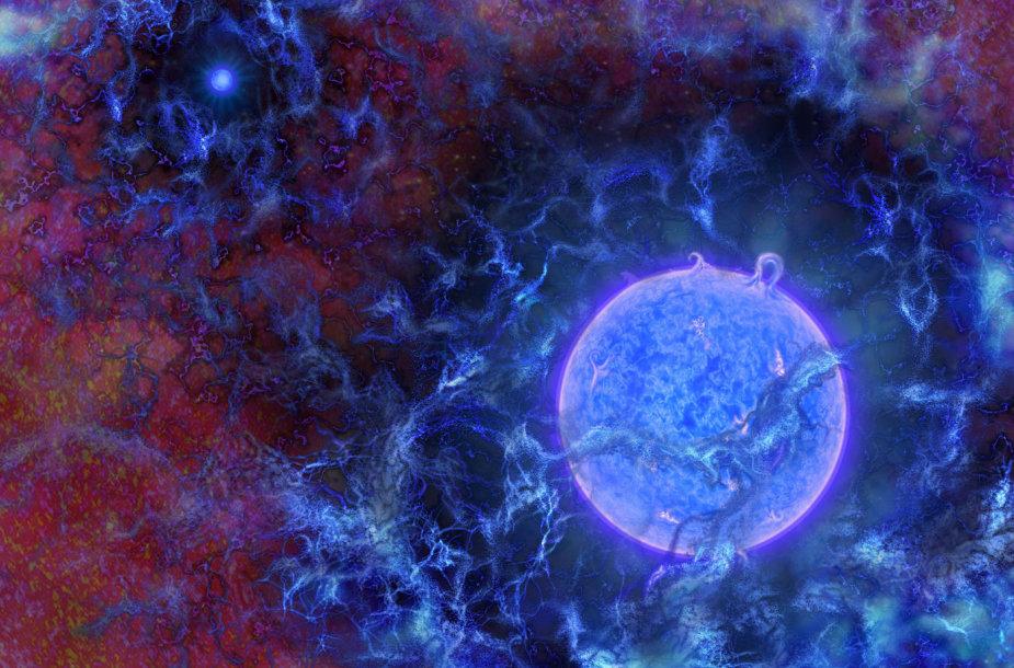 Taip galėjo atrodyti pirmosios Visatos žvaigždės