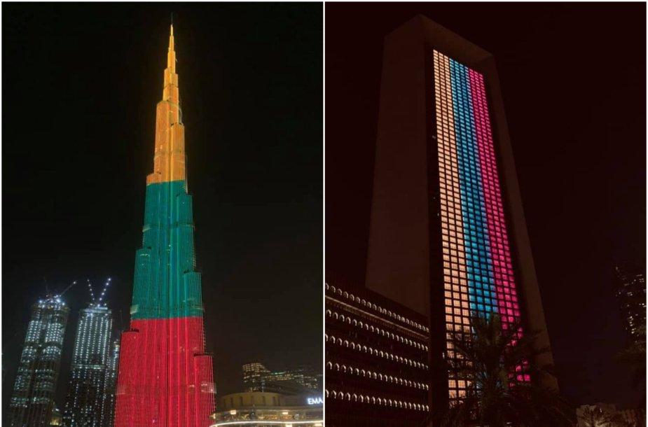 """""""Burj Khalifa"""" nušvito Lietuvos trispalvės spalvomis"""
