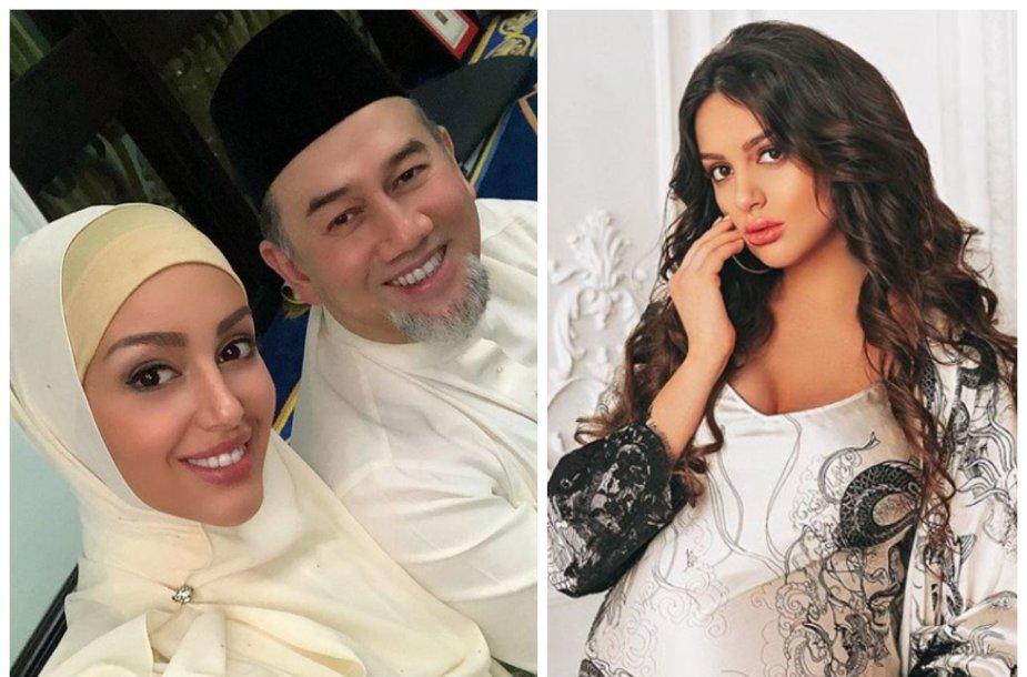 Oksana Voevodina ir Kelantano sultonas Muhammadas V