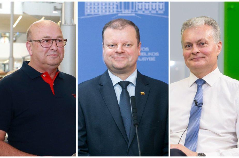 V. Matijošaitis, S. Skvernelis, ir G. Nausėda