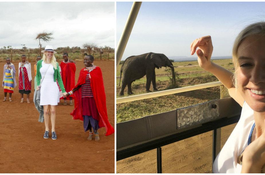 Erikos Purauskytės medaus mėnuo Kenijoje