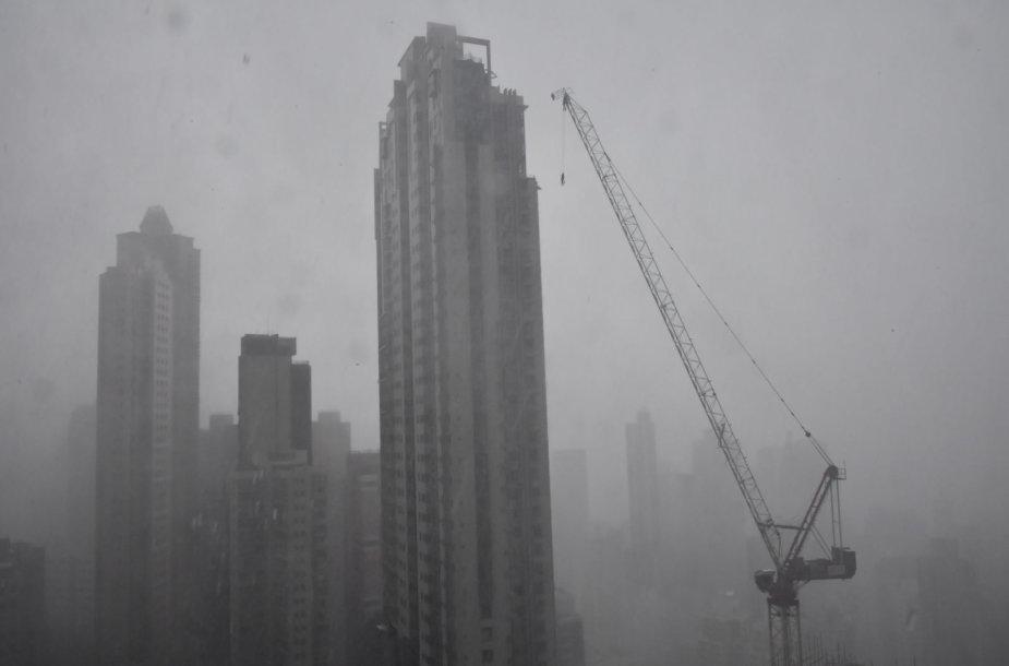Taifūnas Mangkhut pasiekė Kiniją