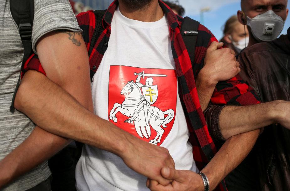 Protestuotojai Minske