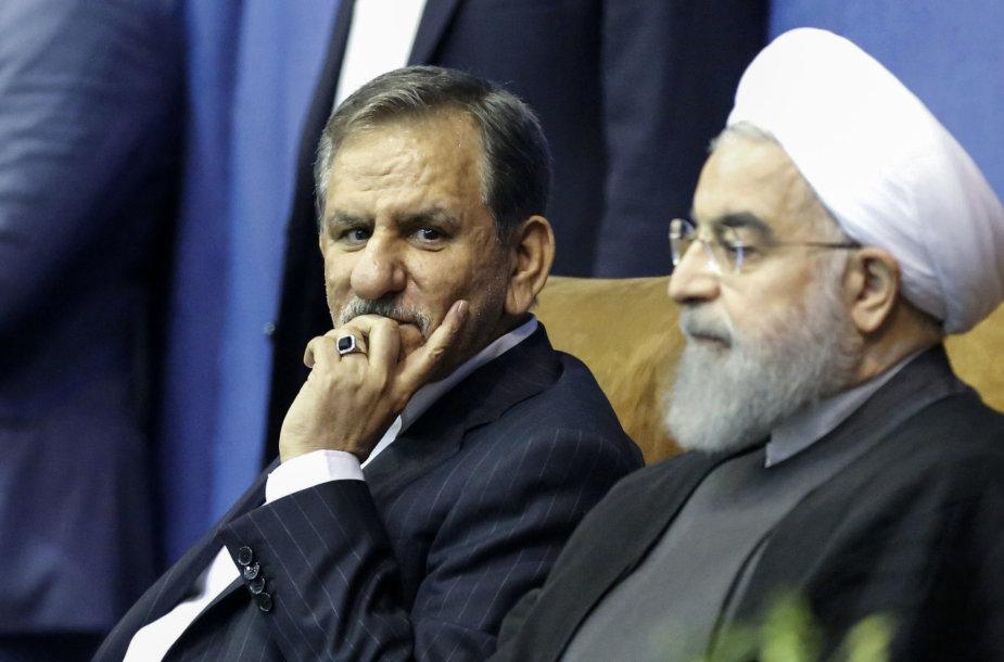 Eshaqas Jahangiri (kairėje) ir Hassanas Rouhani