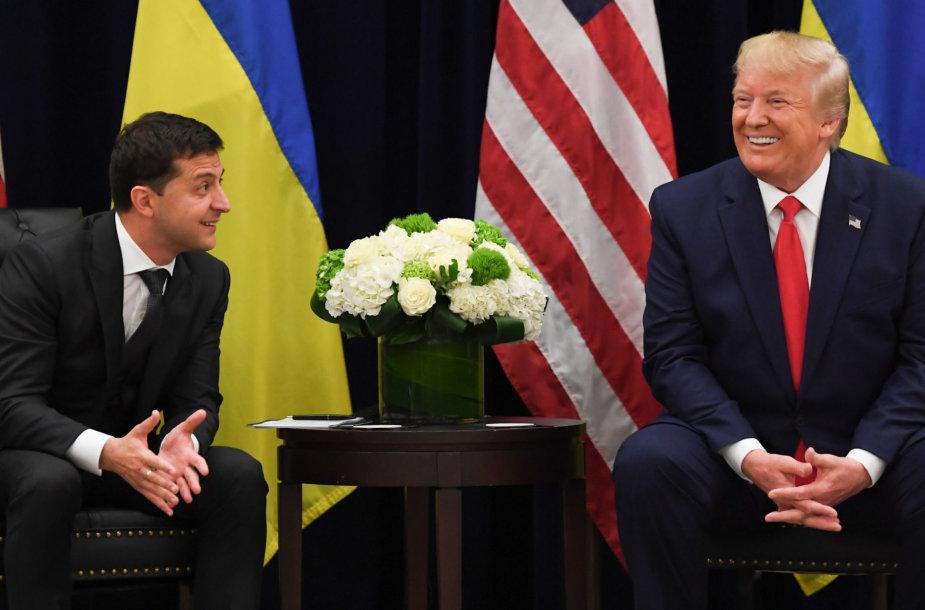 Volodymyras Zelenskis ir Donaldas Trumpas