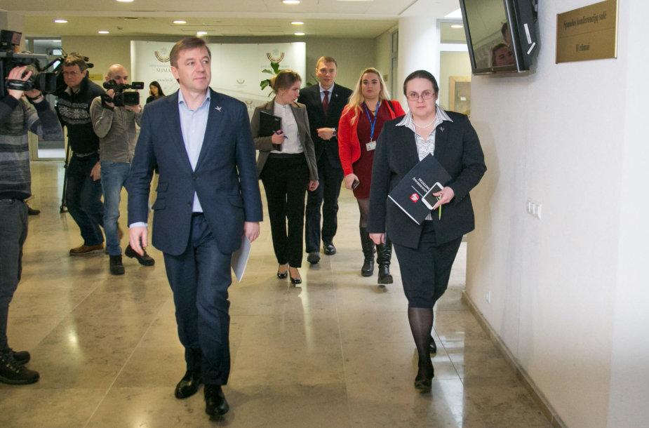 Ramūnas Karbauskis ir  Agnė Širinskienė,