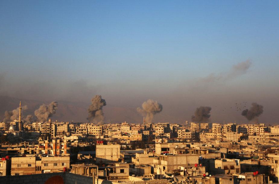 Sirijos sostinės Damasko priemiesčiai