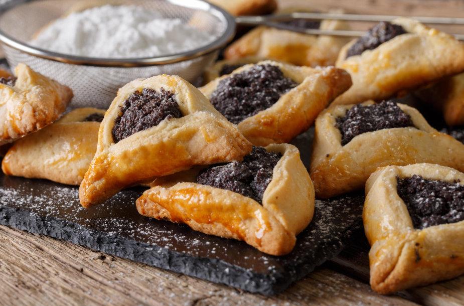 """""""Hamantašen"""" sausainiai su aguonų įdaru"""
