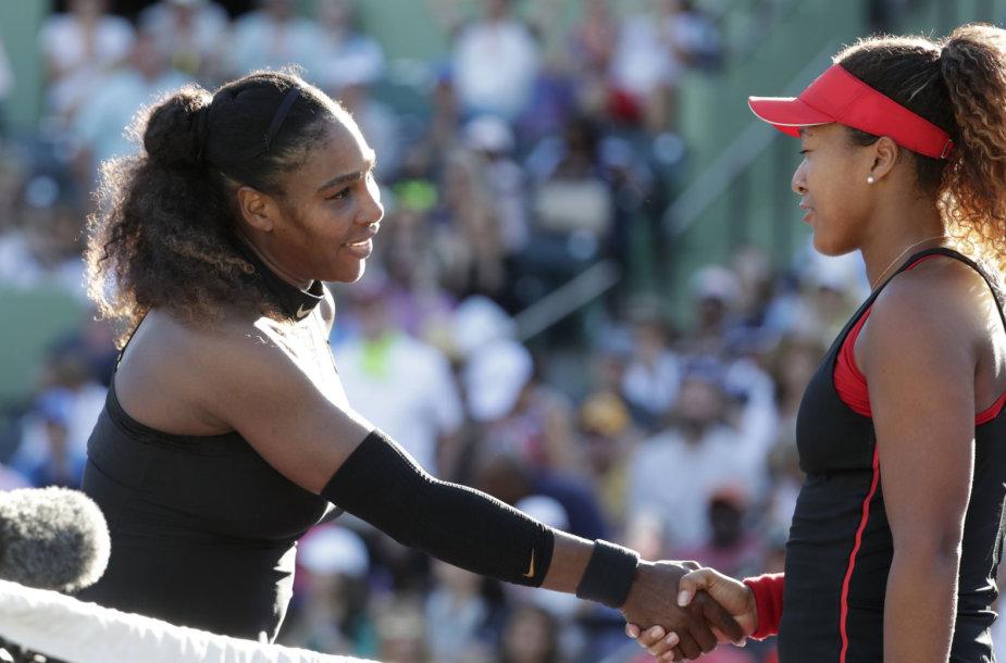 Serena Williams ir Naomi Osaka (Majamis, 2018)