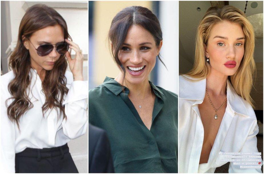 Victoria Beckham, Meghan Markle ir Rosie Huntington-Whiteley